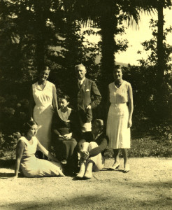 Uberto Pestalozza e la sua famiglia
